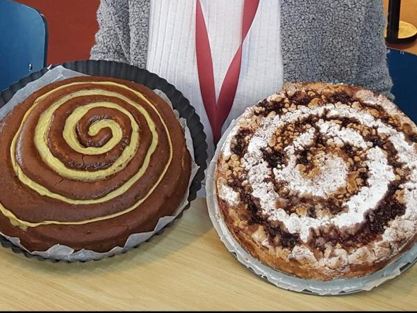 Spiral wave cakes